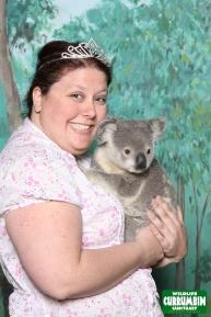 I like to accessorize with tiaras and Koalas
